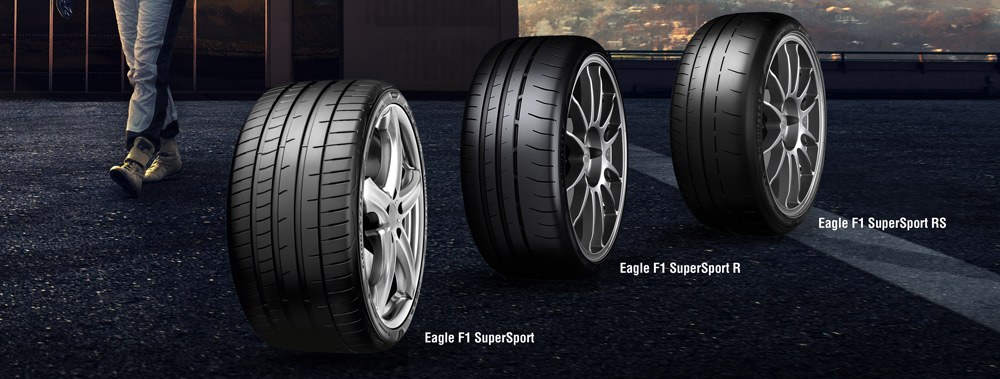 The new Goodyear Eagle F1 SuperSport range