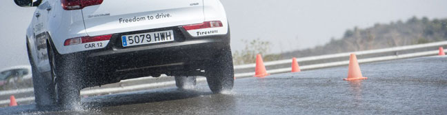 Firestone destination HP wet tyre testing
