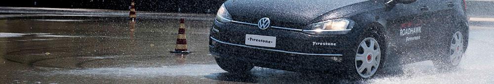 Firestone Roadhawk Wet Testing