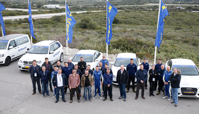 The goodyear testing team in the south of France for dry and wet handling