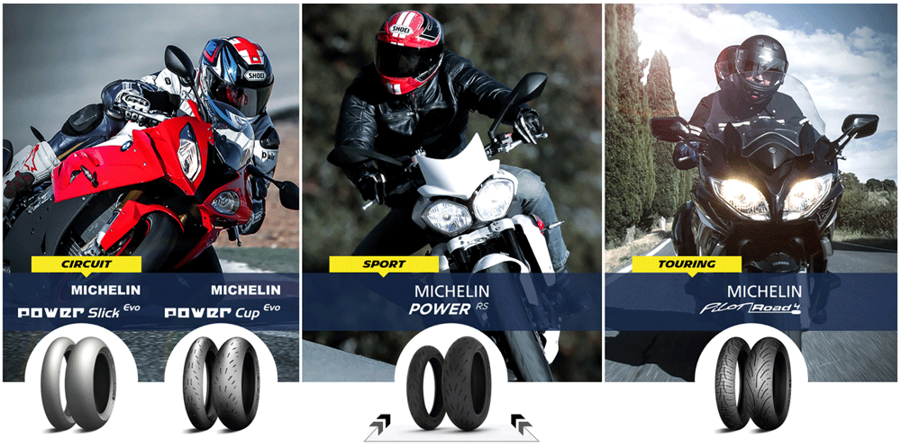 Michelin motorcycle tyre range
