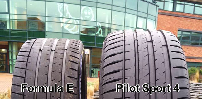 michelin pilot sport 4 vs formula e