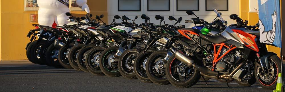 Michelin Road 5 test bikes