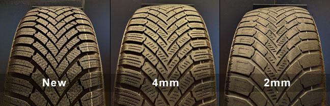 new vs 4mm vs 2mm tyre wear performance